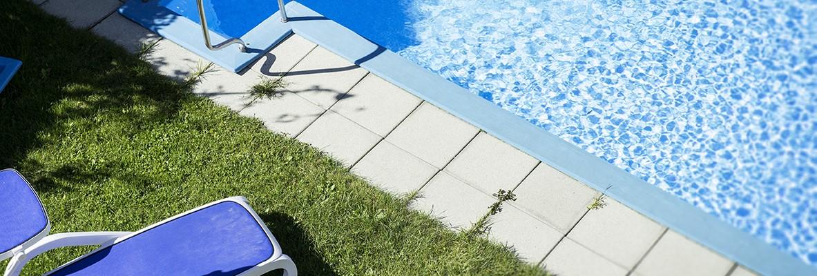 Acqua rinfrescante nella piscina